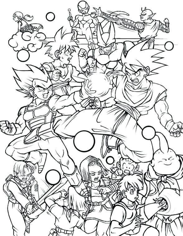 588x755 Dragon Ball Coloring Games Z Page