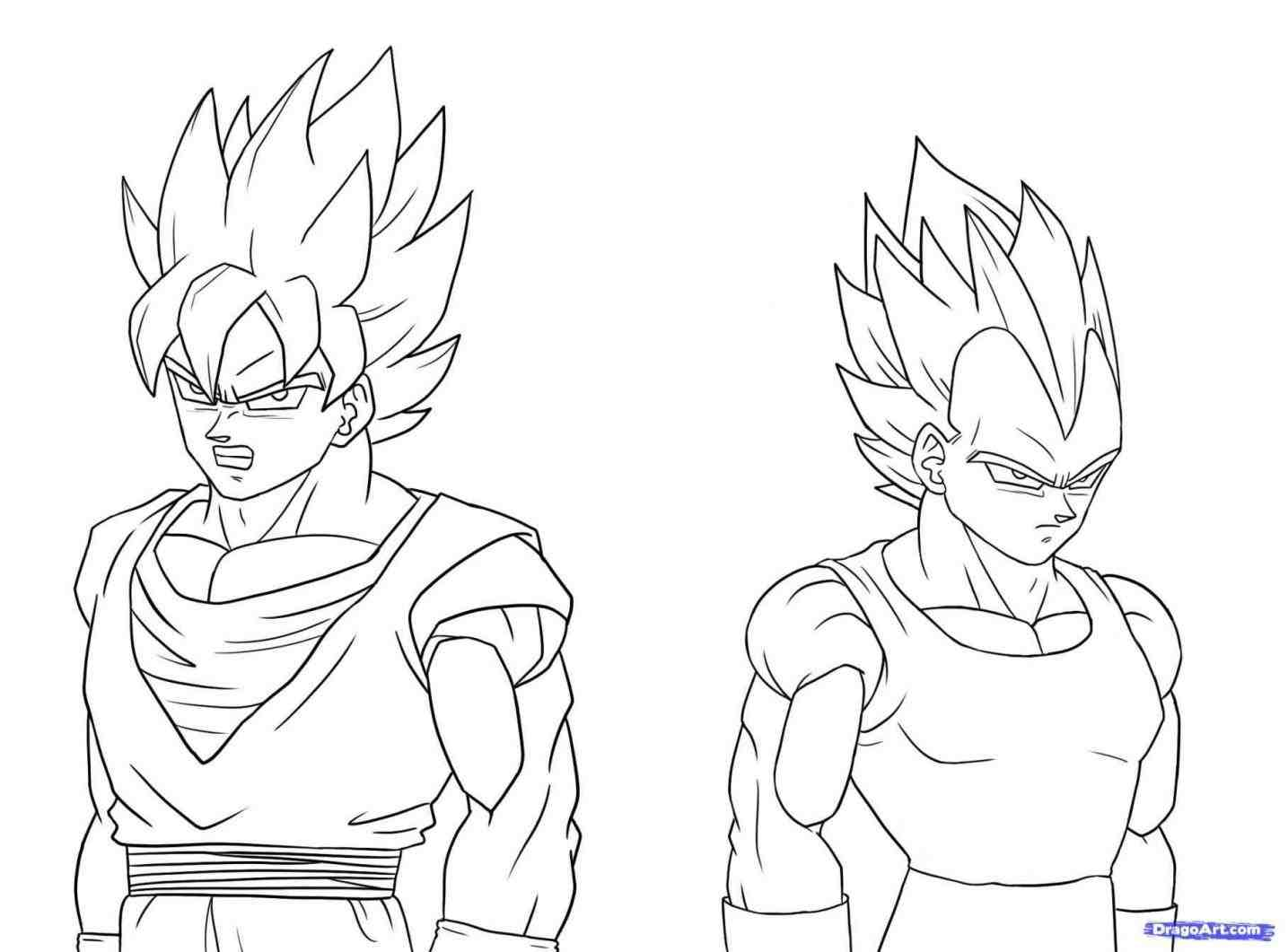 1435x1061 Dragon Goku From Ball Z Series With Simple Steps How Drawing Goku