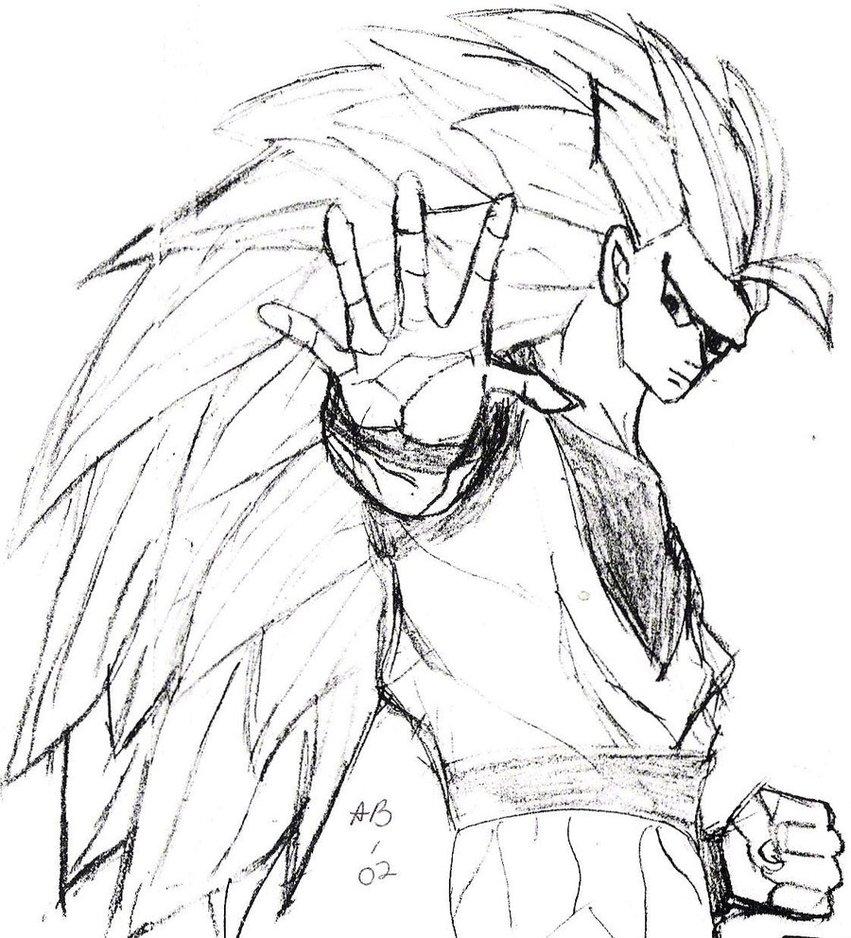 851x938 Dragonball Z Goku Sketch By Liongirl2289