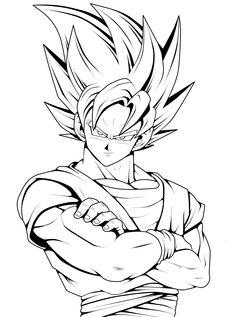236x317 Drawing Goku Super Saiyan From Dragonball Z Tutorial Dragonball