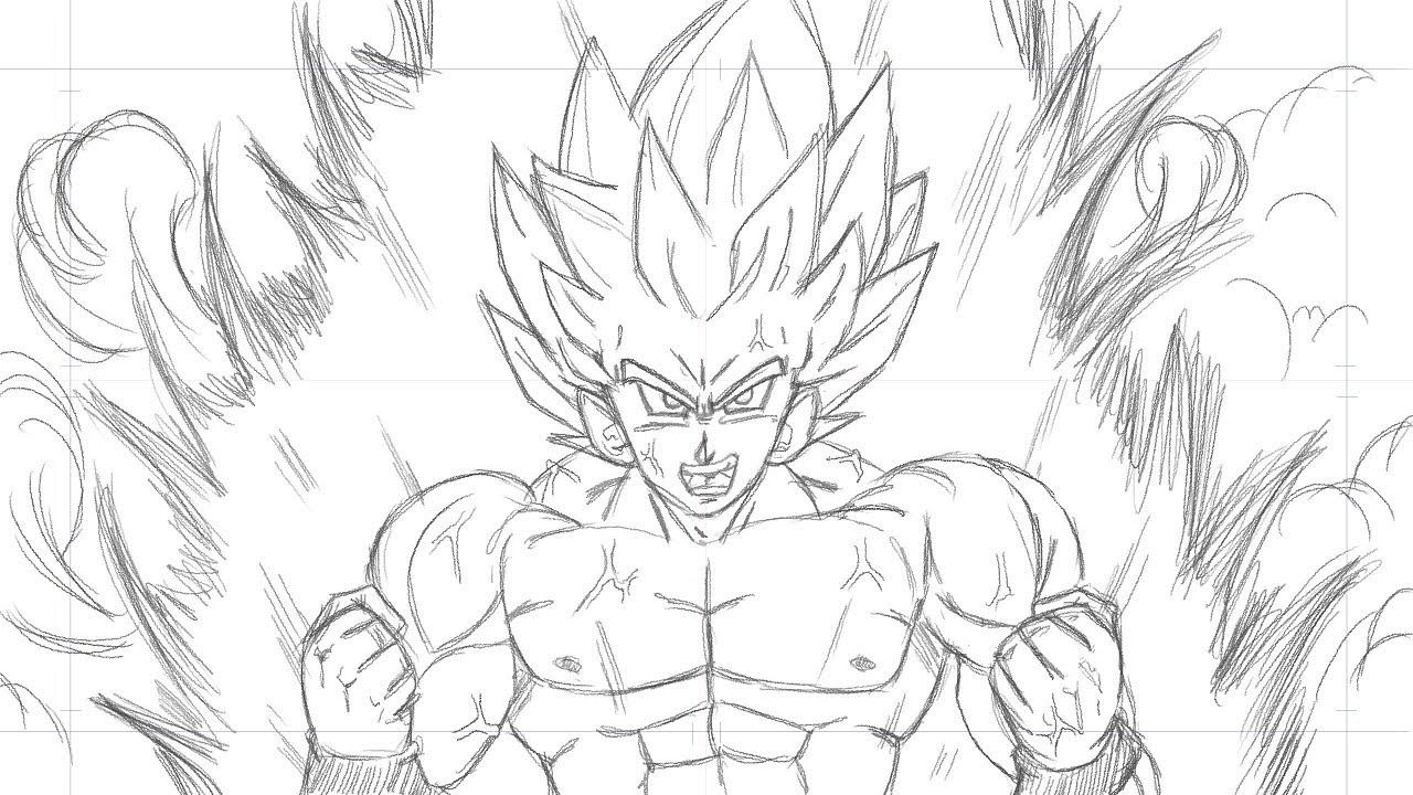 Dragon Ball Z Drawing Goku At Getdrawings Free Download