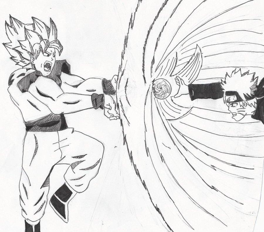 900x790 Goku Vs Naruto By Crowshot27