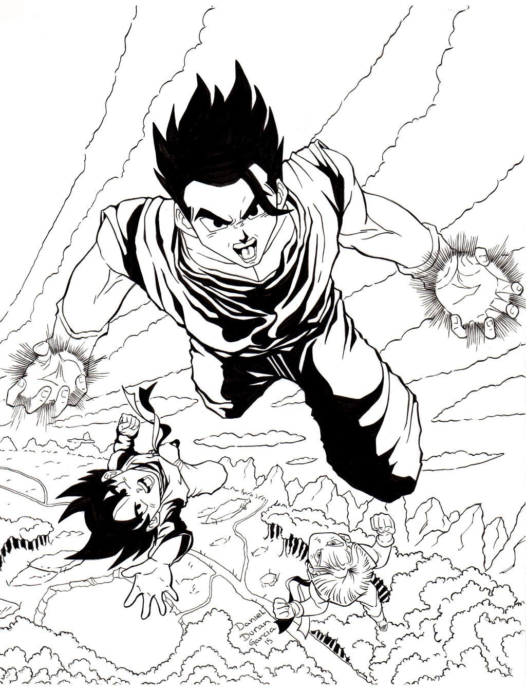 1024x1343 Dragon Ball Z Gohan, Goten Trunks By Dandg