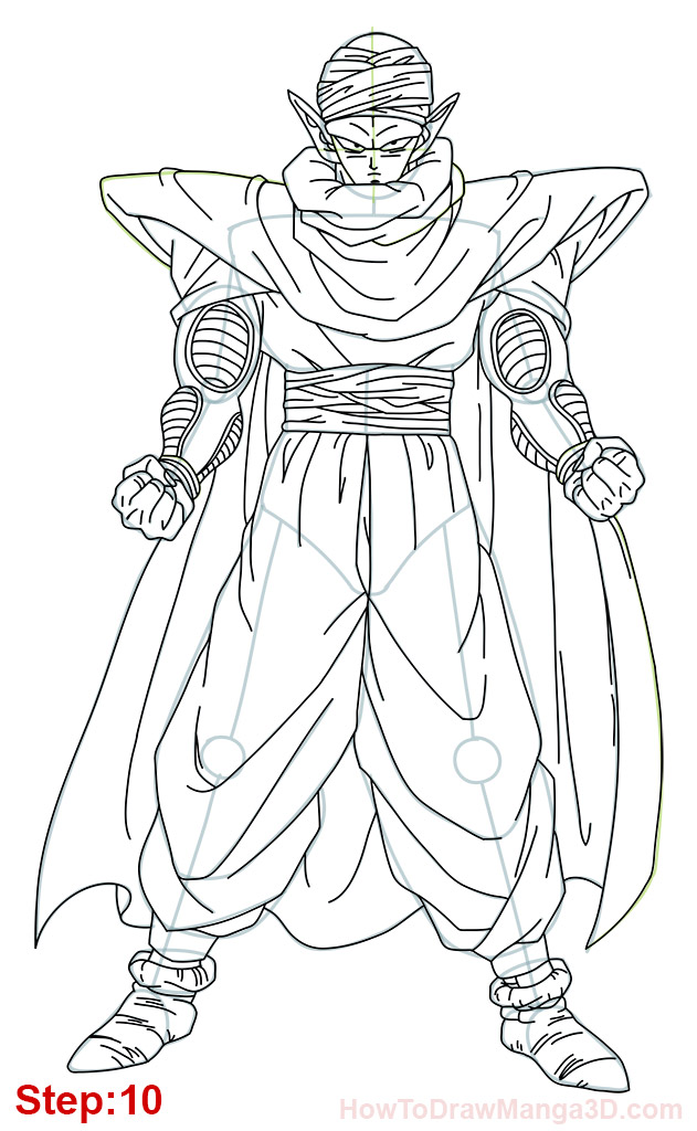631x1024 How To Draw Piccolo From Dragon Ball Full Body