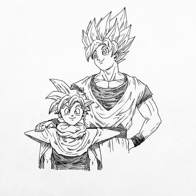 640x640 Son Goku And Son Gohan From Dragon Ball Z.
