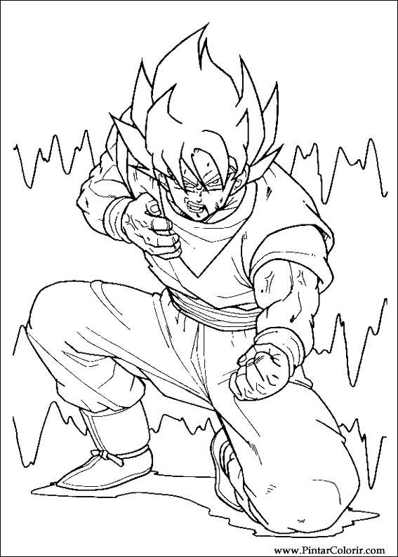 567x794 Dragon Ball Z Coloring Book Paint Colour Dragon Ball Z Drawing