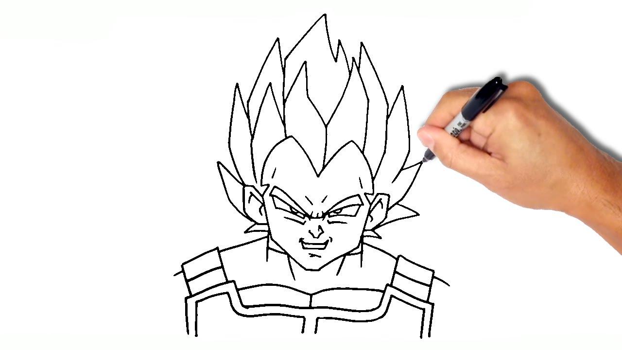 1280x720 How To Draw Ssj Vegeta