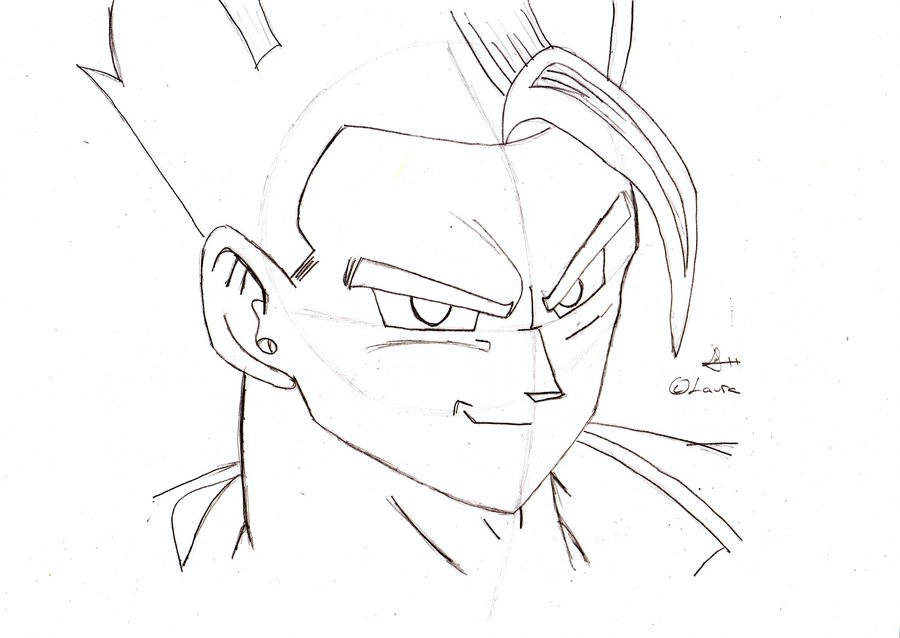 900x638 How To Draw Ultimate Gohan By Songohan10