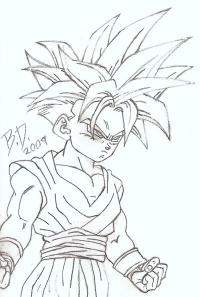 400x594 Super Saiyan Teen Gohan By Bluepelt