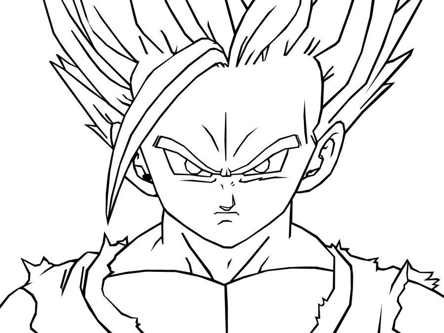 900x675 Teen Gohan Coloring Pages Dragon Ball Z Teen