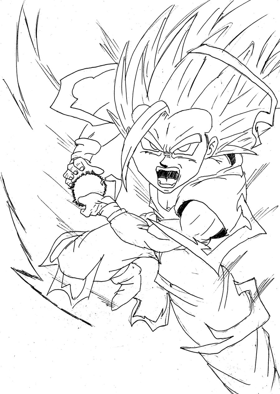 900x1267 Teen Gohan Kamehameha Drawing Places To Visit