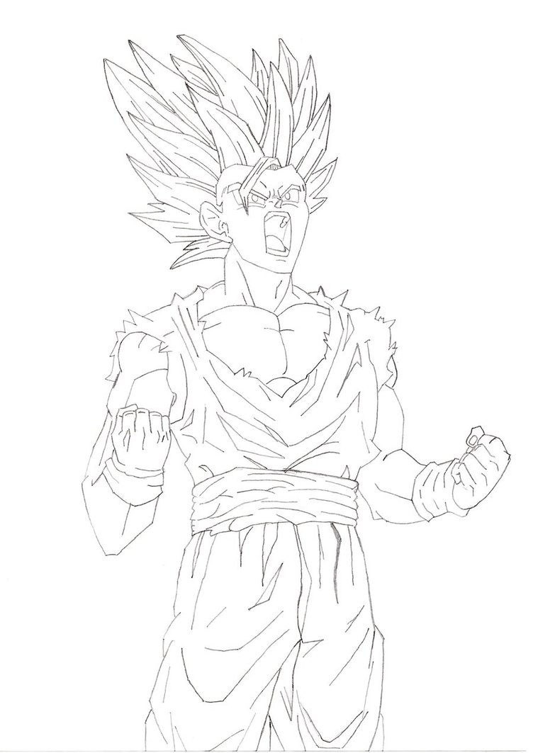 752x1063 Dragon Ball Gohan Ssj2 By Pejo95