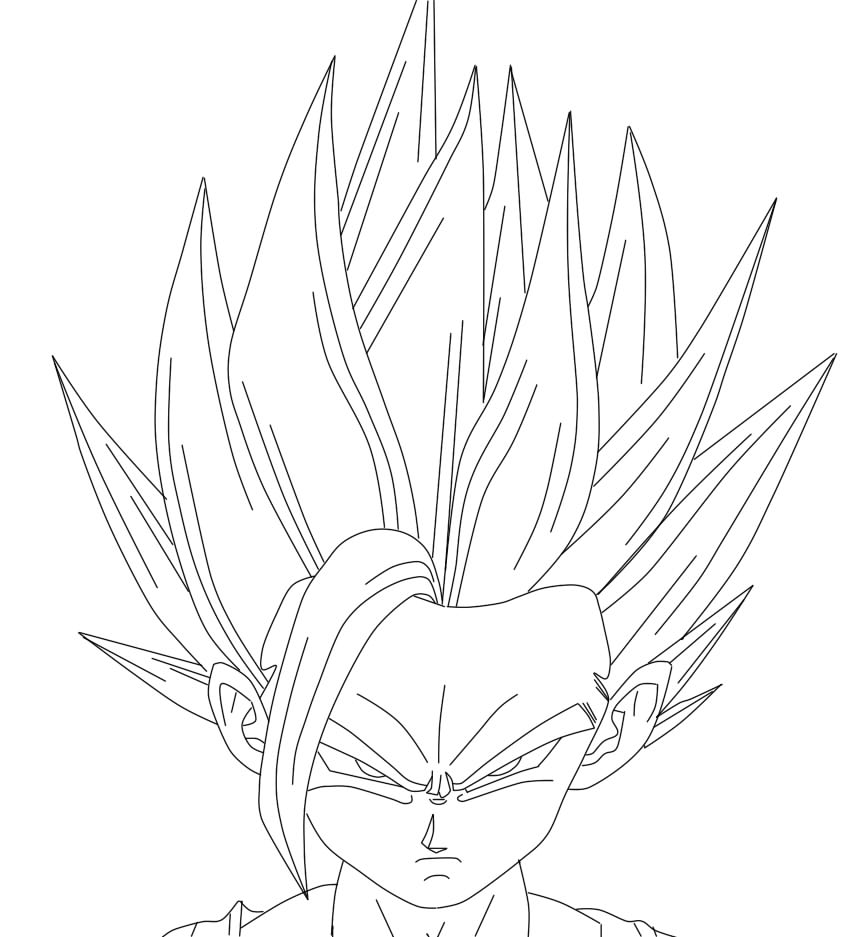 Dragon Ball Z Gohan Drawing At Getdrawings Com Free For Personal
