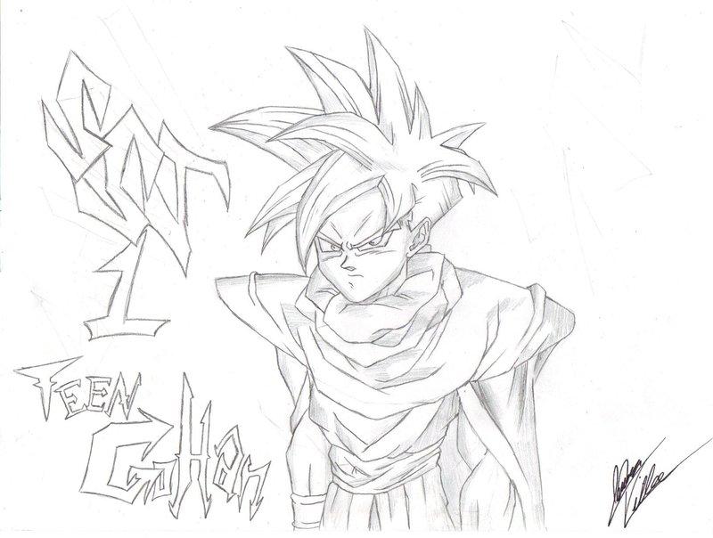 800x604 Dragonball Z Ssj1 Teen Gohan By Villa777