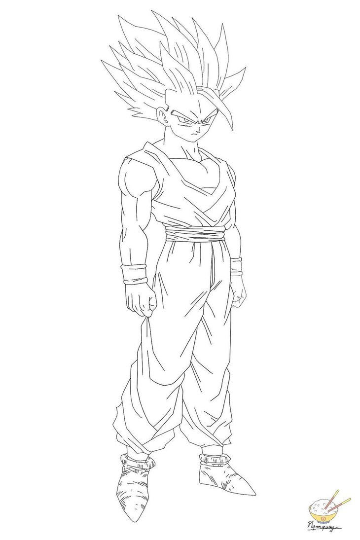 730x1095 Dragon Ball Z Coloring Pages Gohan Paginone.biz