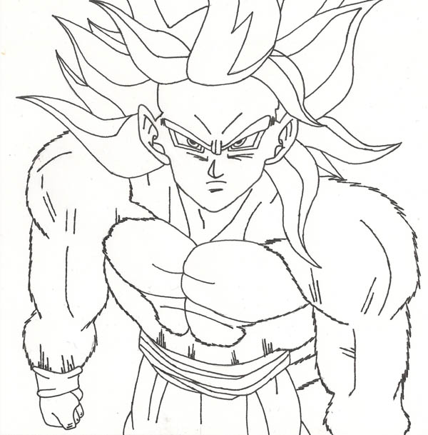 600x609 Dragon Ball Z Goku Super Saiyan 4 Clipart