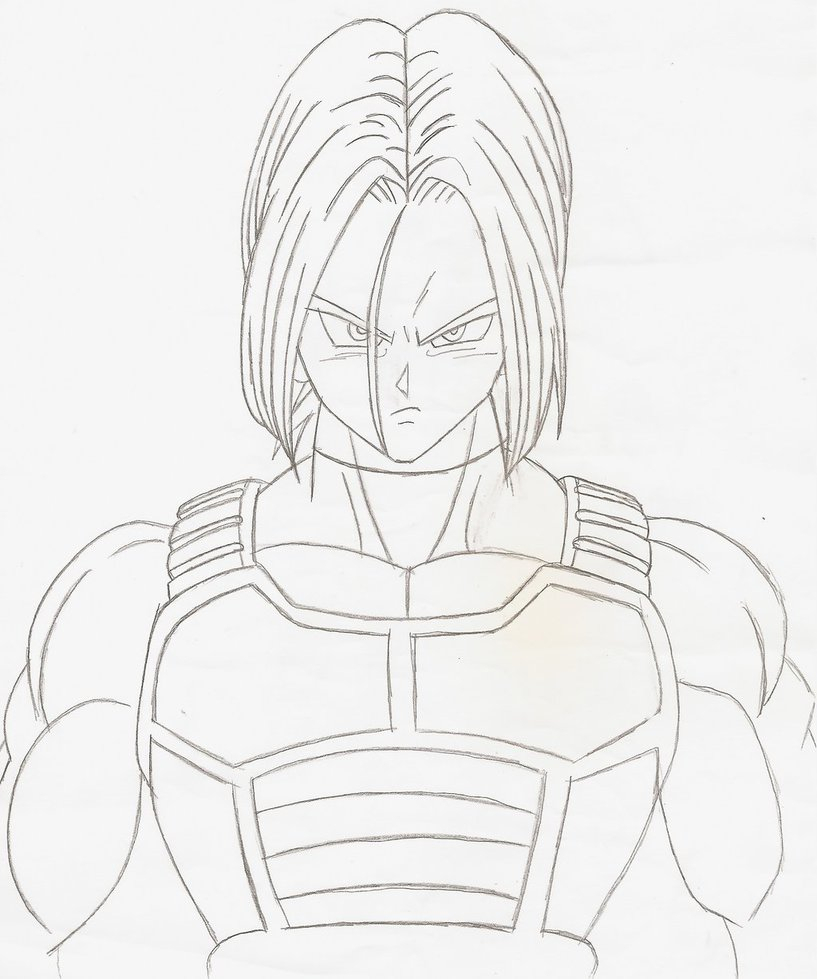 Dragon Ball Z Trunks Drawing At Getdrawings Com Free For