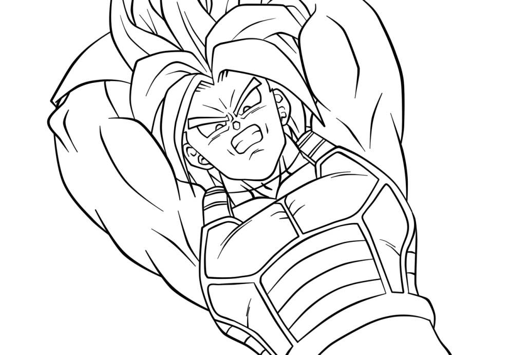 1024x690 Trunks Lineart 30 By Andy156