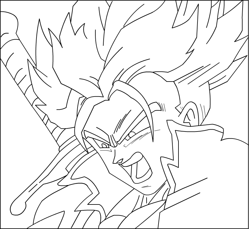 Trunks Dbz Coloring Pages - Worksheet & Coloring Pages