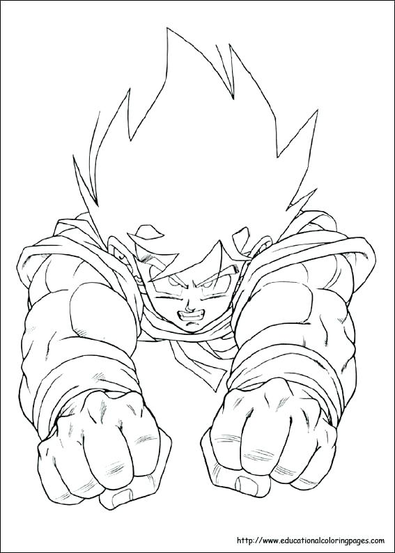 567x794 Coloring Pages Dragon Ball Z Trunks Super Murs