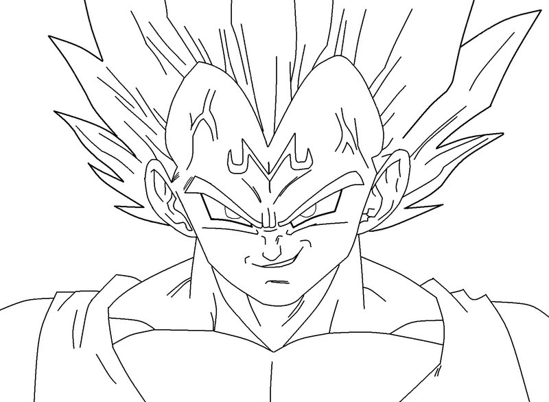Dragon Ball Z Vegeta Drawing