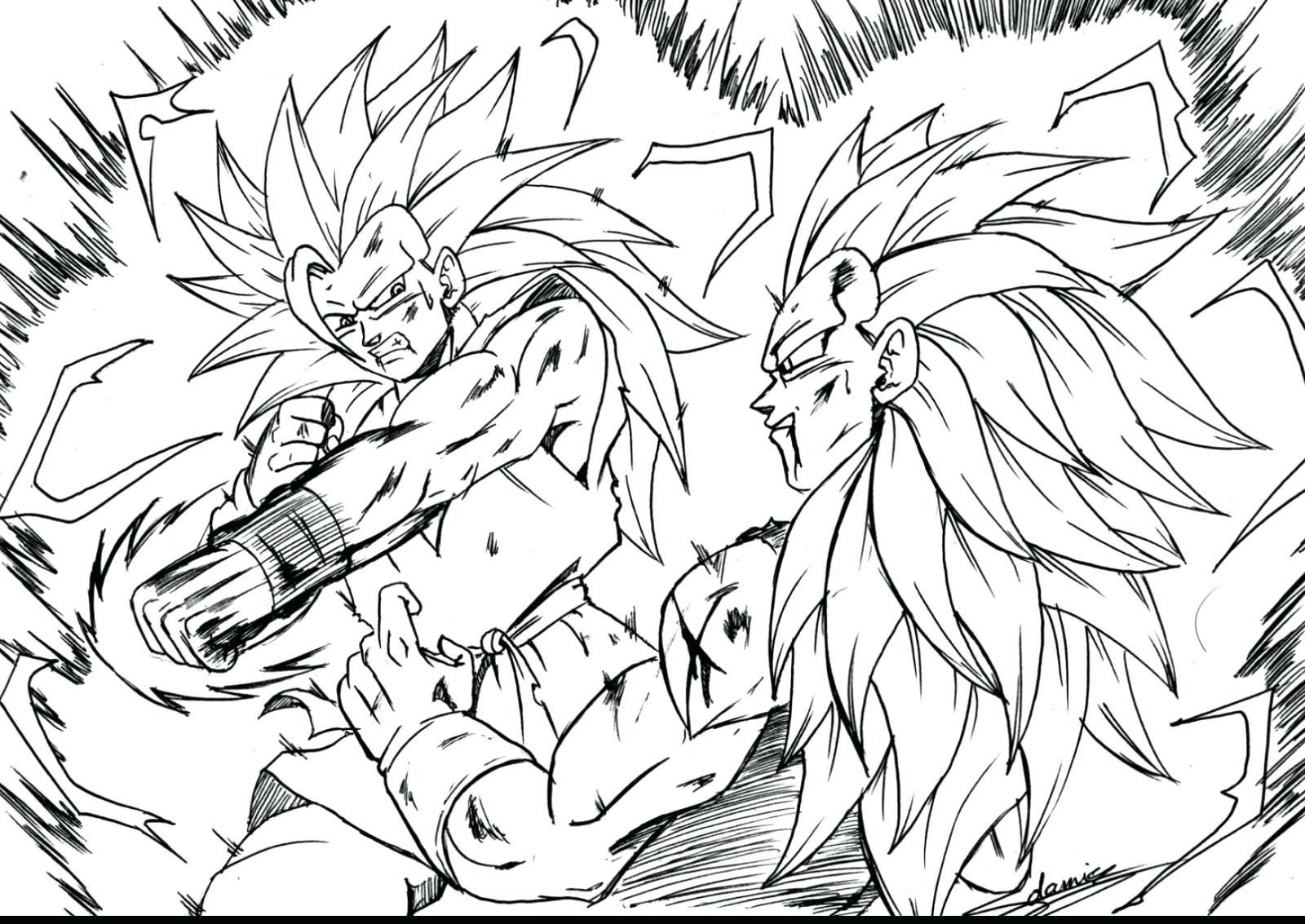 1600x1133 Dragon Ball Z Coloring Pages Vegeta And Goku Printable Free