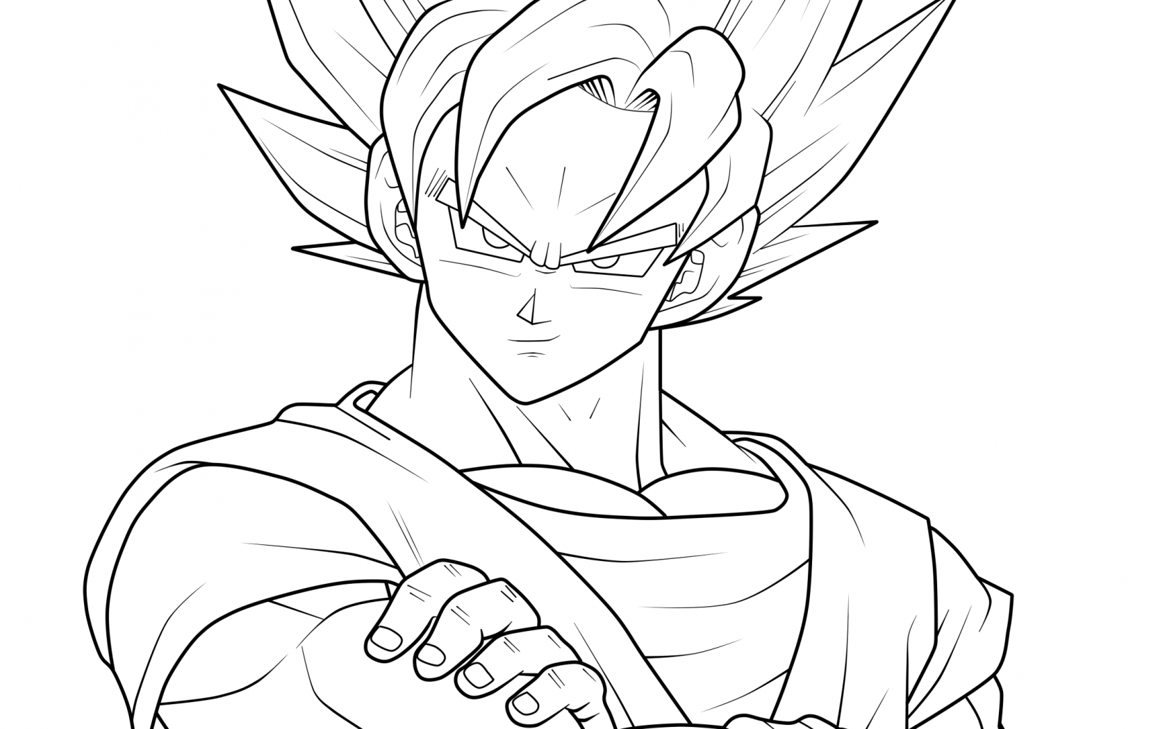 1680x1050 Dragon Ball Z Coloring Pages Vegeta And Goku Printable Free