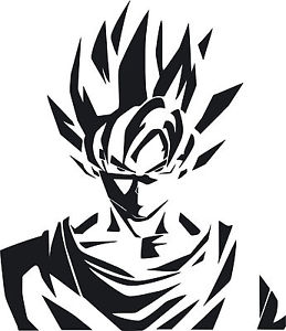 259x300 Dragon Ball Z Dbz Logo Super Saiyan Goku Anime Vinyl Die Cut Decal