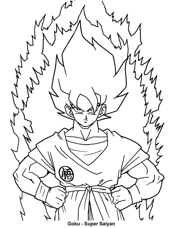 600x783 Dragon Ball Z Pictures To Color Free Download