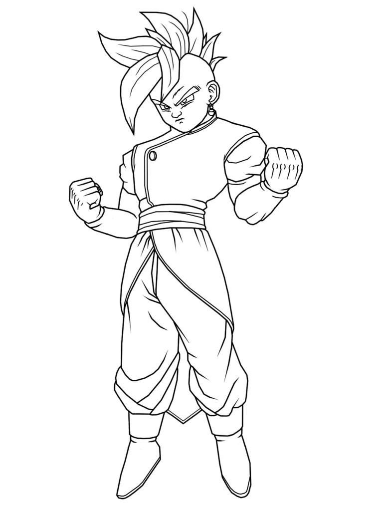 774x1032 Free Printable Dragon Ball Z Coloring Pages For Kids