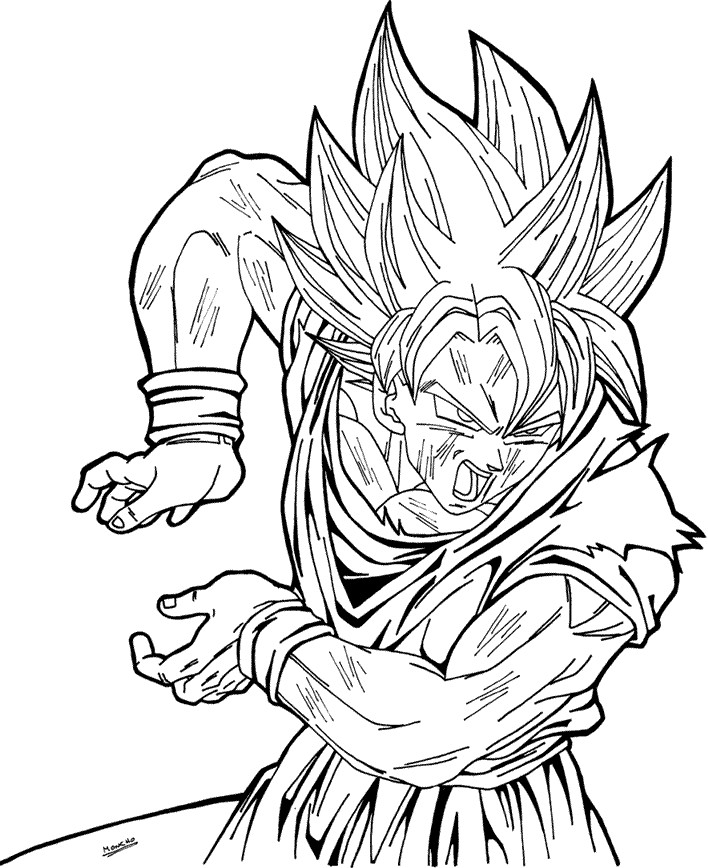 708x868 Ball Z Super Saiyan Clipart