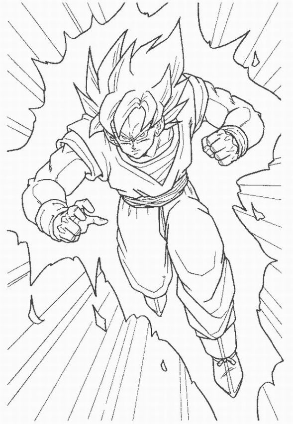 589x853 How To Draw Goku Super Saiyan How To Draw Dragon Ball Z Goku