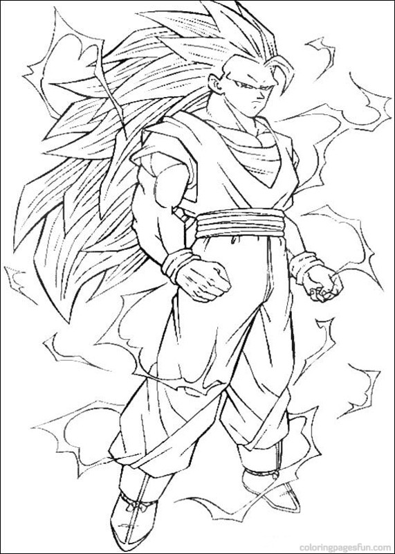 571x800 Dragon Ball Z Coloring Page Printable For Snazzy Draw Kids