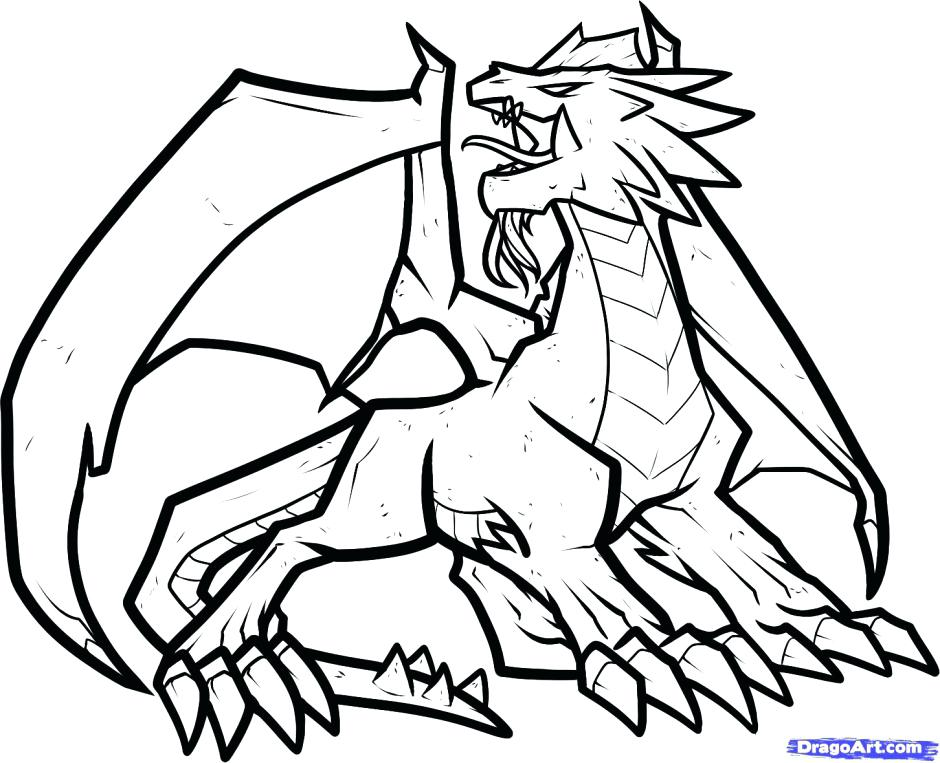 Dragon Breathing Fire Drawing at GetDrawings.com | Free for personal ...
