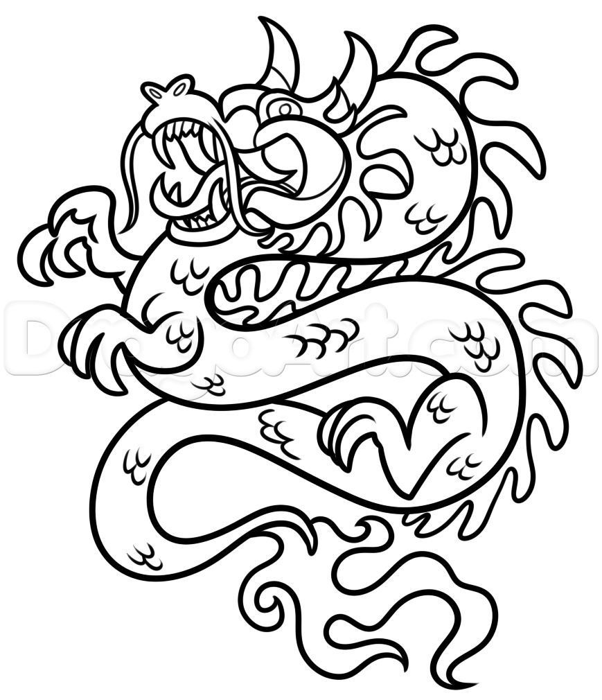 Chinese New Year Dragon Drawing Lesson