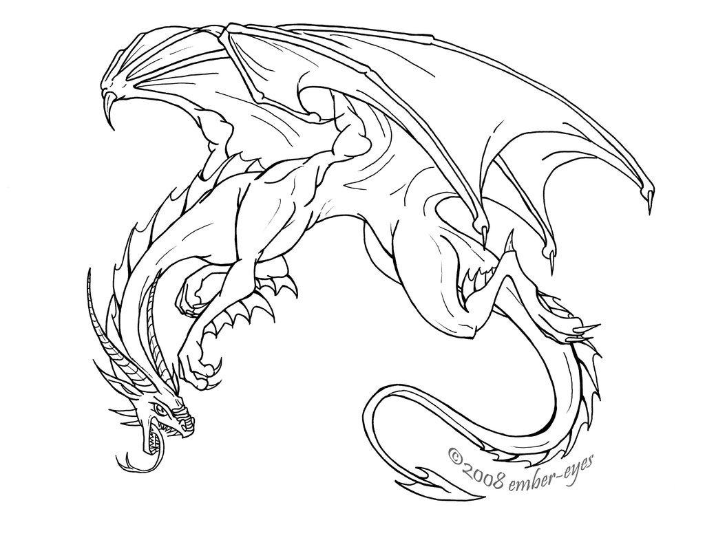 1024x785 Fierce Dragon By Ember Eyes