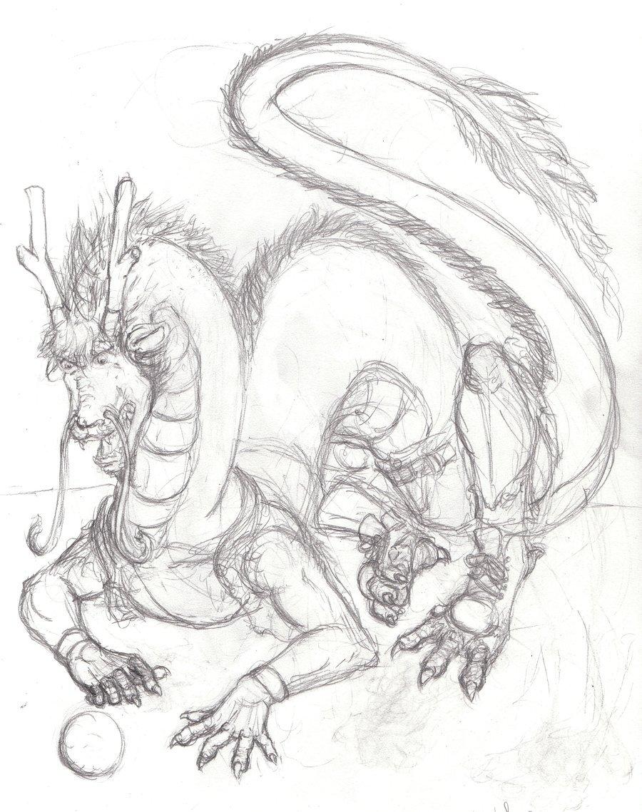 900x1139 Kejital Eastern Dragon Sketch By Ageaus