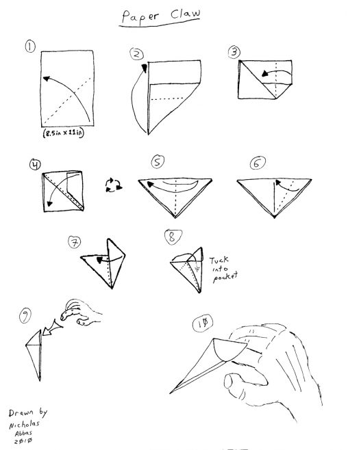 508x658 Paper Claws Origami Origami Easy How To Make Dragon Claws Paper