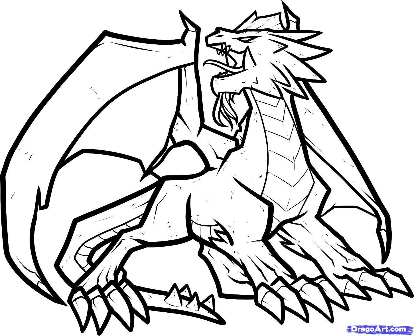 1452x1180 How To Draw A Fire Dragon, Fire Dragon, Red Dragon Step 9
