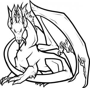 302x296 Dragon Black And White Drawing Clipart