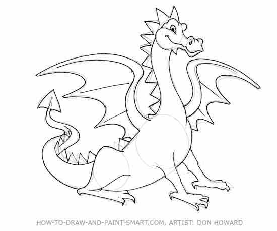 550x458 Drawn Cartoon Dragon