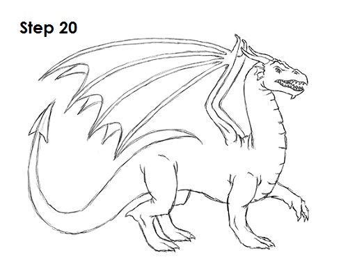 500x386 How To Draw A Dragon