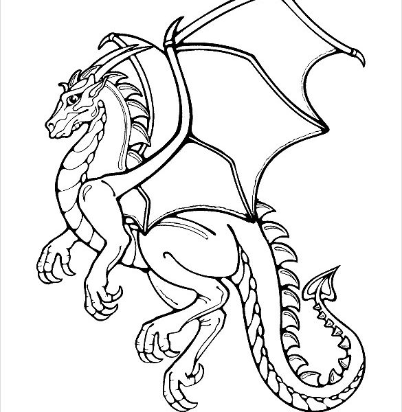 585x600 Kids Drawing Templates Dragon Drawing Template 13 Free Pdf