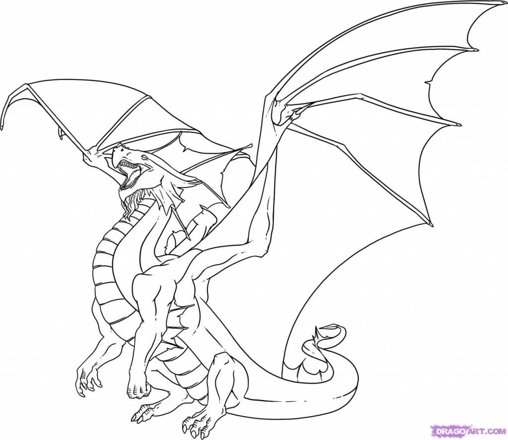 1024x887 Cool Dragon Drawings