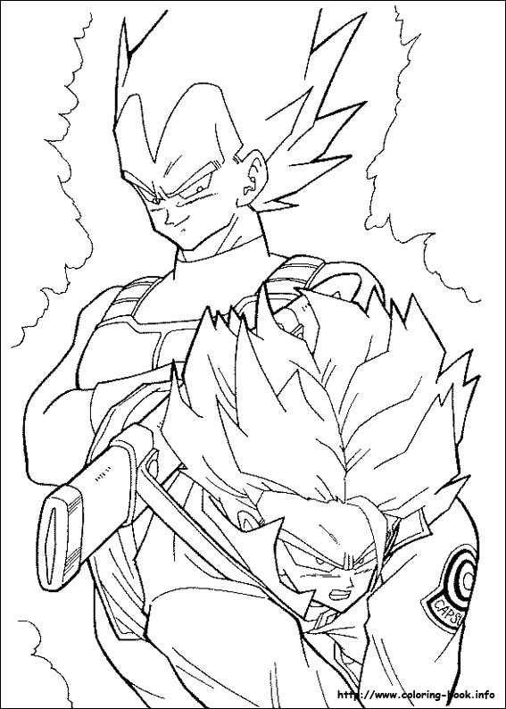 567x794 Dragon Ball Z Coloring Books Colouring For Humorous Print Draw