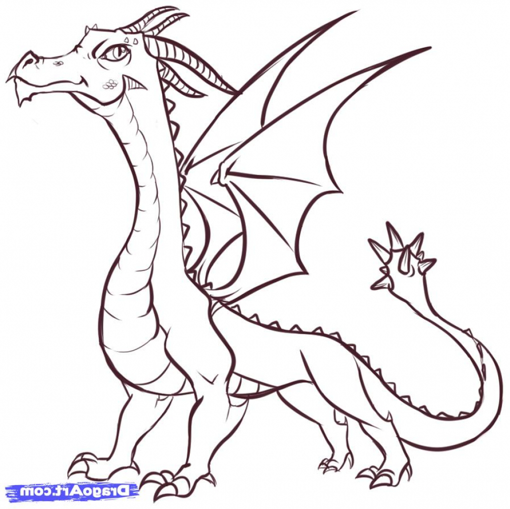 Dragon Drawing Easy At Getdrawings Com Free For Personal Use