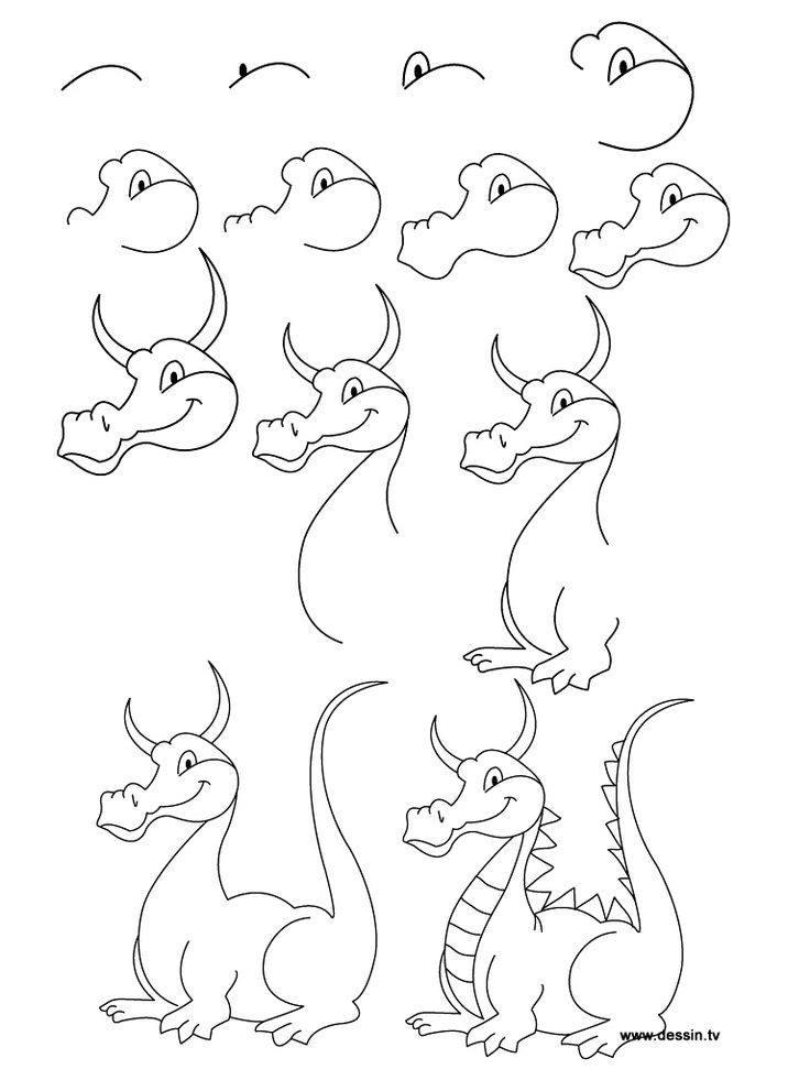 736x981 how to draw an easy dragon step by step