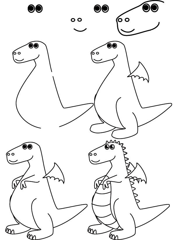 600x822 drawing dragon
