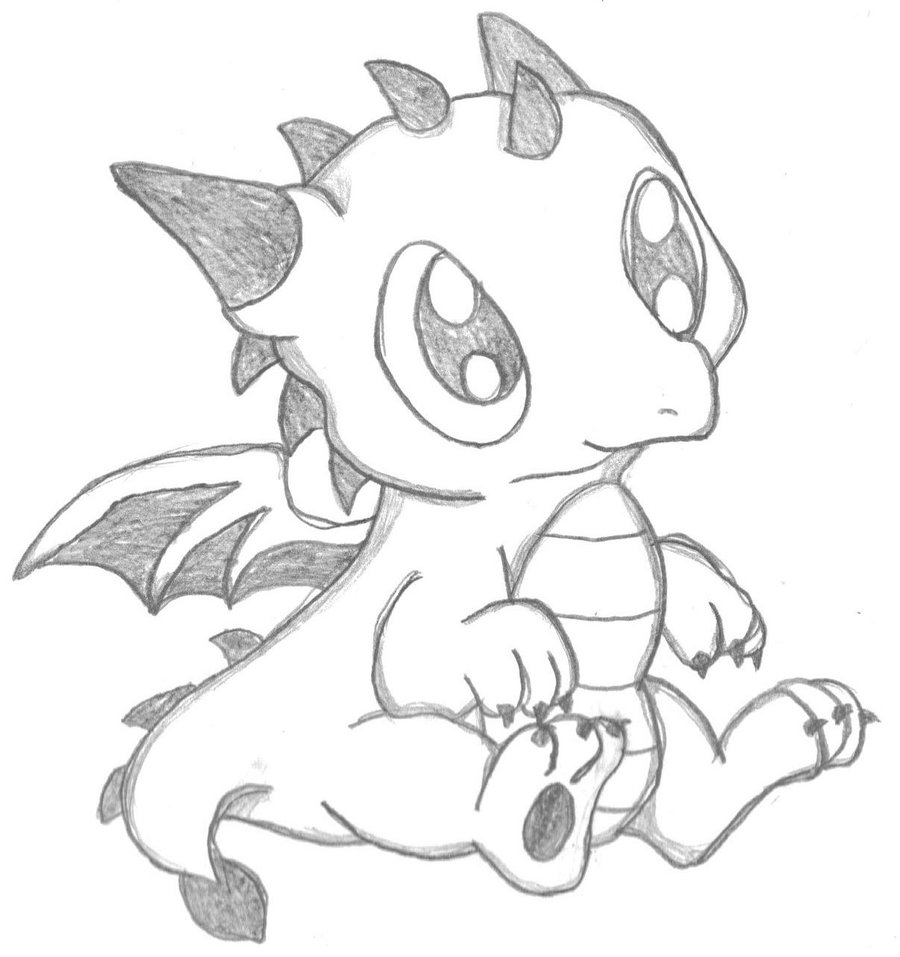900x957 Cute Dragon Drawings Coloring Page Dragon