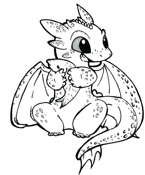 600x722 Excellent Dragon Coloring Pages For Kids Free Printable Awesome